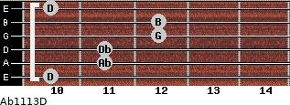 Abº11\13\D for guitar on frets 10, 11, 11, 12, 12, 10