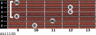 Abº11\13\D for guitar on frets 10, 11, 9, 12, 12, 9