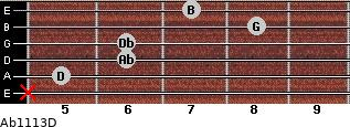 Abº11\13\D for guitar on frets x, 5, 6, 6, 8, 7