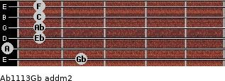Ab11/13/Gb add(m2) guitar chord