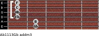 Ab11/13/Gb add(m3) guitar chord