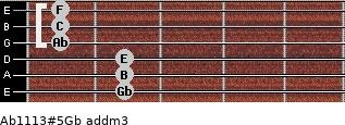 Ab11/13#5/Gb add(m3) guitar chord