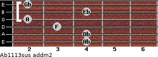 Ab11/13sus add(m2) guitar chord