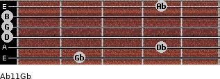 Abº11\Gb for guitar on frets 2, 4, 0, 0, 0, 4