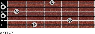 Abº11\Gb for guitar on frets 2, 4, 0, 1, 0, 3
