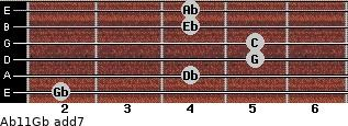 Ab11/Gb add(7) guitar chord