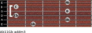 Ab11/Gb add(m3) guitar chord
