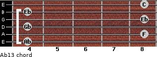 Ab13 for guitar on frets 4, 8, 4, 8, 4, 8