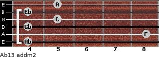 Ab13 add(m2) for guitar on frets 4, 8, 4, 5, 4, 5