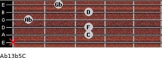 Ab13b5/C for guitar on frets x, 3, 3, 1, 3, 2