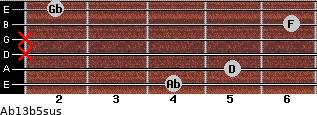 Ab13b5sus for guitar on frets 4, 5, x, x, 6, 2