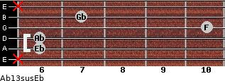 Ab13sus/Eb for guitar on frets x, 6, 6, 10, 7, x