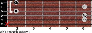 Ab13sus/Eb add(m2) guitar chord