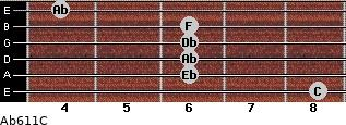 Ab6/11/C for guitar on frets 8, 6, 6, 6, 6, 4