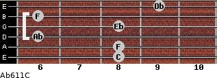 Ab6/11/C for guitar on frets 8, 8, 6, 8, 6, 9