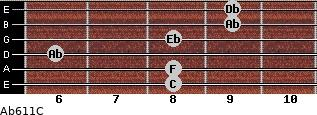 Ab6/11/C for guitar on frets 8, 8, 6, 8, 9, 9