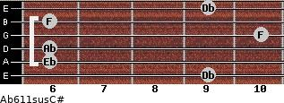 Ab6\11sus\C# for guitar on frets 9, 6, 6, 10, 6, 9