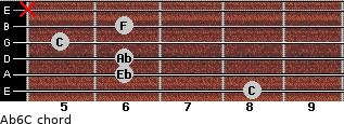 Ab6/C for guitar on frets 8, 6, 6, 5, 6, x