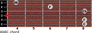 Ab6/C for guitar on frets 8, 8, x, 8, 6, 4