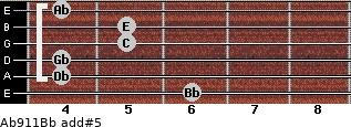 Ab9/11/Bb add(#5) guitar chord