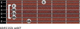 Ab9/11/Gb add(7) guitar chord