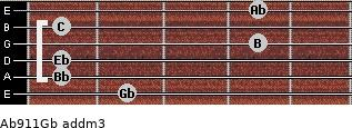 Ab9/11/Gb add(m3) guitar chord
