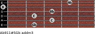 Ab9/11#5/Gb add(m3) guitar chord
