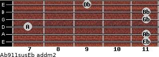 Ab9/11sus/Eb add(m2) guitar chord