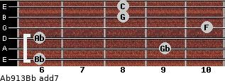 Ab9/13/Bb add(7) guitar chord