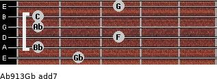 Ab9/13/Gb add(7) guitar chord