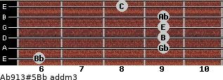 Ab9/13#5/Bb add(m3) guitar chord