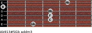 Ab9/13#5/Gb add(m3) guitar chord