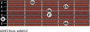 Ab9/13sus add(m2) guitar chord