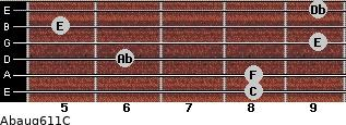 Abaug6/11/C for guitar on frets 8, 8, 6, 9, 5, 9