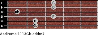 Abdim(maj11/13)/Gb add(m7) guitar chord