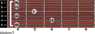Abdom7 for guitar on frets 4, 6, 4, 5, 4, 4