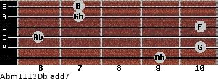 Abm11/13/Db add(7) guitar chord