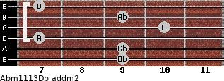Abm11/13/Db add(m2) guitar chord