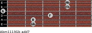 Abm11/13/Gb add(7) guitar chord