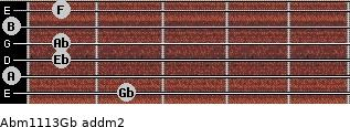 Abm11/13/Gb add(m2) guitar chord