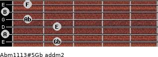 Abm11/13#5/Gb add(m2) guitar chord