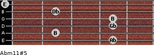 Abm11#5 for guitar on frets 4, 2, 4, 4, 2, 0