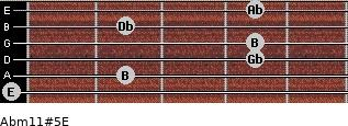 Abm11#5/E for guitar on frets 0, 2, 4, 4, 2, 4
