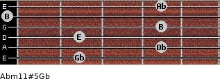 Abm11#5/Gb for guitar on frets 2, 4, 2, 4, 0, 4