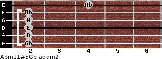 Abm11#5/Gb add(m2) guitar chord