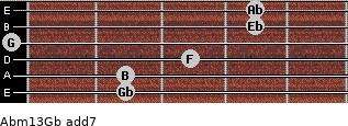 Abm13/Gb add(7) guitar chord