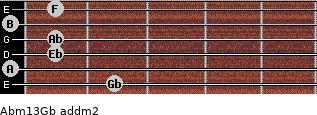 Abm13/Gb add(m2) guitar chord