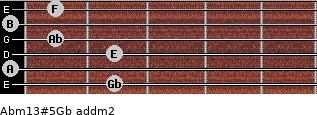 Abm13#5/Gb add(m2) guitar chord