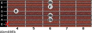 Abm6/9/Eb for guitar on frets x, 6, 6, 4, 6, 6