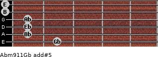 Abm9/11/Gb add(#5) guitar chord